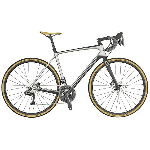 Велосипед Scott Addict SE DISC 2019 (54см (M) Серый)