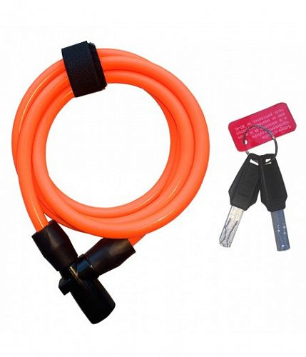 Замок ONGUARD Lightweight Key Coil Cable Lock, трос 150см x8мм, Оранжевый